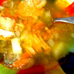 Potatoes, onions, carrots, celery and of course canned fish make for a super-easy, soul-warming soup.